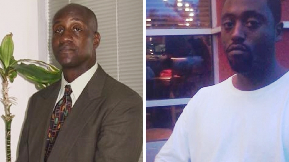 Nathaniel Pickett II (right), who suffered from mental illness, was shot to death by a San Bernardino County, Ca., sheriff's deputy in 2015 after he was stopped while walking to the motel where he lived. Pickett was unarmed. His father (left) and mother sued the county and were awarded $33.5 million.