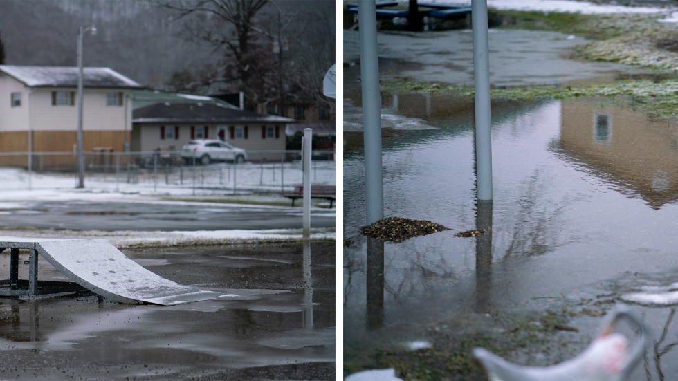 """Before the flood, Pastor Aaron Trigg says there used to be baseball games and kids playing on the playground near his house in Rainelle. After the flood, that changed. """"Now, it was just silence,"""" he remembers. """"It affected the spirit of the town."""""""