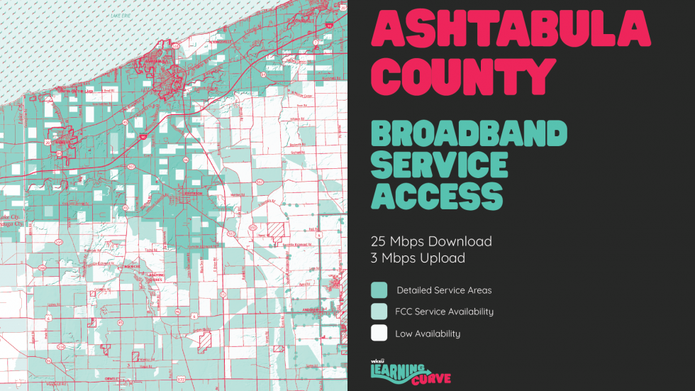 The problem for many families in Ashtabula County isn't that they don't have internet, it's that they don't have or cannot afford speeds that can handle the load of several children learning at home at once.