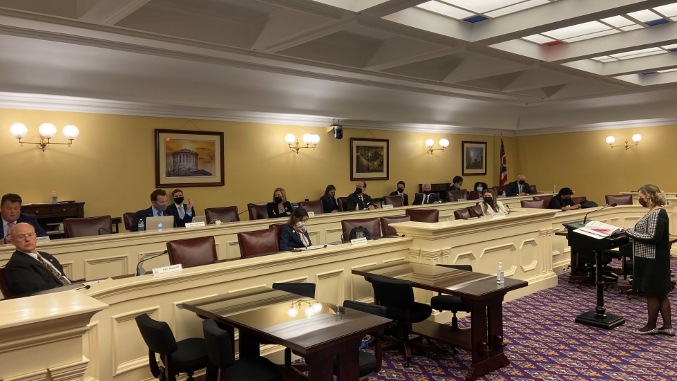 Office of Budget and Management Director Kim Murnieks testified before the House Finance Commitee on February 4, 2021.
