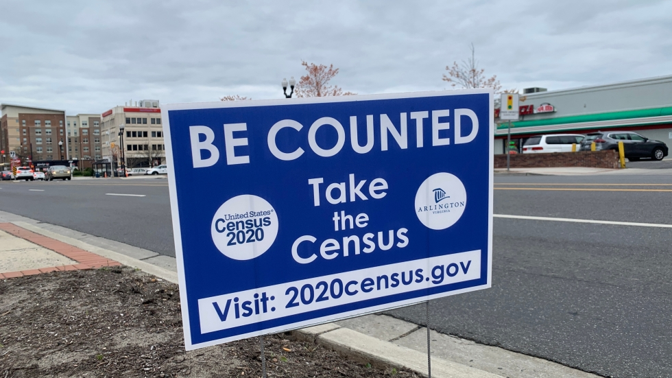 A Census 2020 yard sign