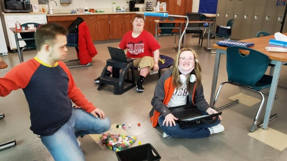 Students with disabilities at Ellet High School are excited to be back in the classroom and cherish the social interactions.