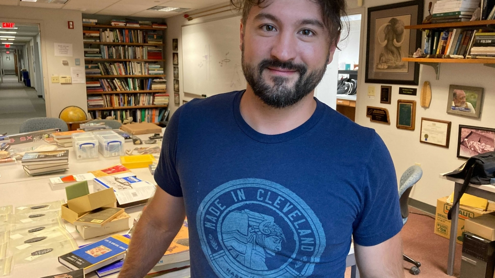 Kent State University anthropologist Metin Eren is a master flint knapper, which helps him analyze the styles of artifacts. He says the tools in the Nelson cache were made quickly and mostly unfinished, cached for later use and never retrieved.