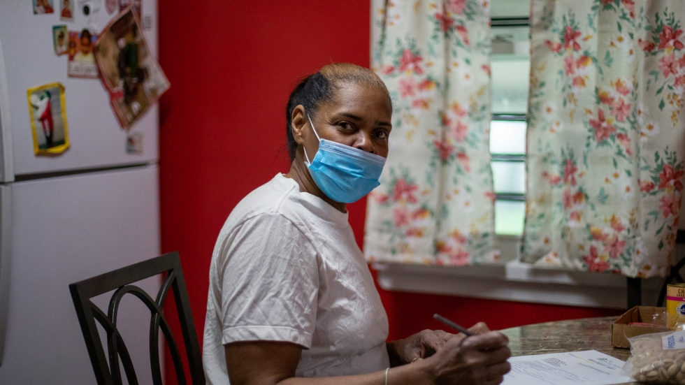 """Flora Dillard says the help she received in upgrading her house and cutting her energy bills is """"a very good program, especially for people that don't have a lot of income."""" She has lived in the house for 15 years."""