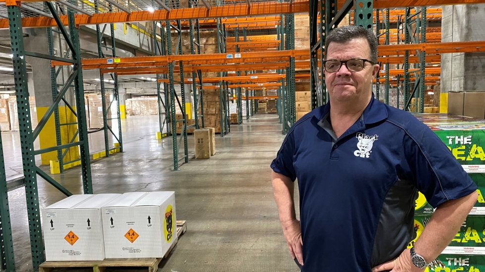 President Mike Collar of Winco Fireworks in Grandview, Mo., says the delays in getting fireworks are robbing his business of what could have been the best year ever.