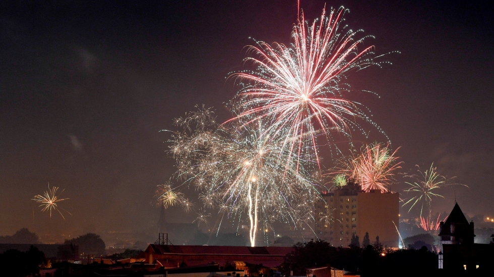 People set off consumer aerial fireworks in the City of Reading, Pa., on Saturday night July 4, 2020 in celebration of the Fourth of July.