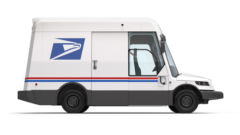 This prototype of a new USPS mail delivery truck was unveiled in February as part of an announcement that the Postal Service was overhauling its fleet to include more electric vehicles.