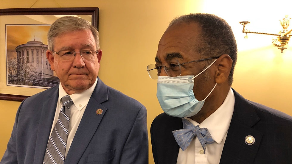 House Speaker Bob Cupp (R-Lima) and Sen. Vernon Sykes (D-Akron), both co-chairs of the Ohio Redistricting Commission, discuss the next steps for the commission.
