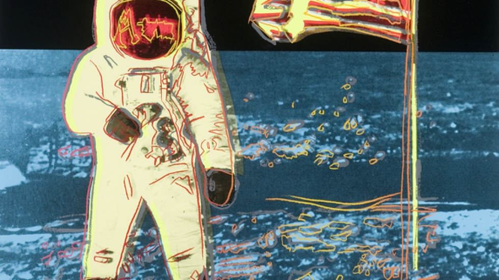 <cite>Man On Moon </cite>by Andy Warhol