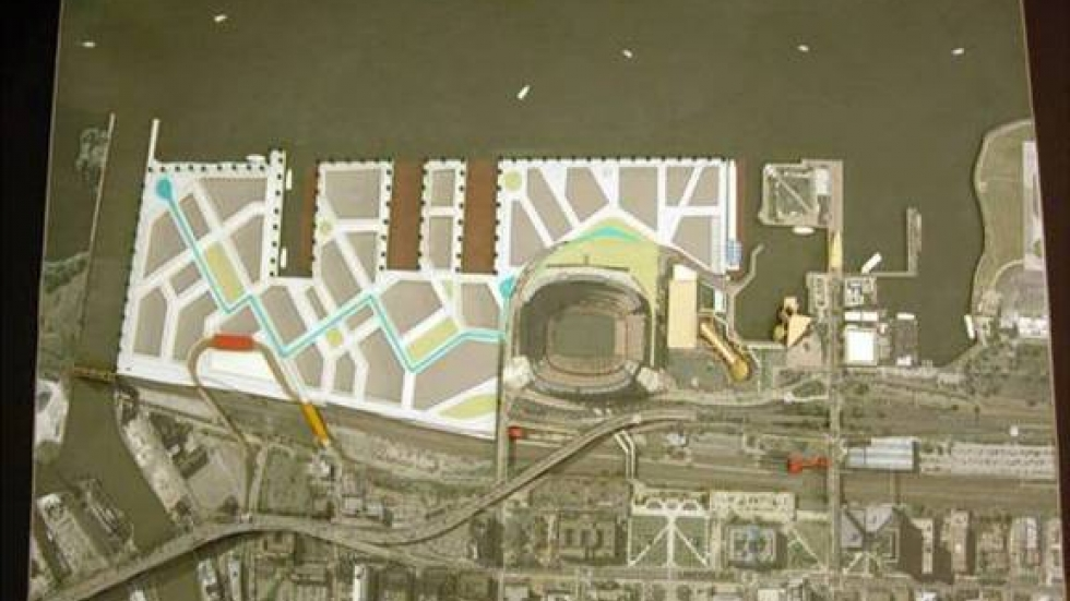 A model of the planned changes to Port property