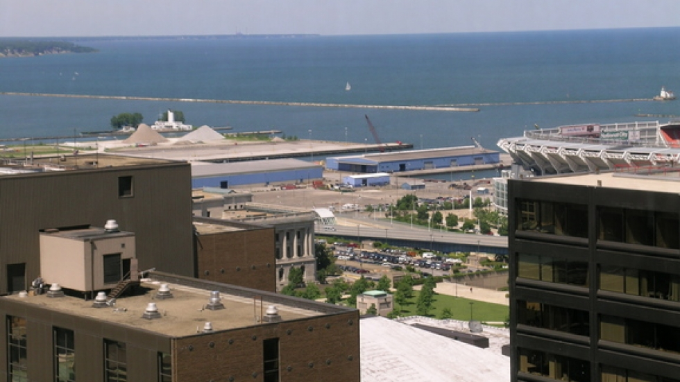 The Port area as viewed from the One Cleveland building, home to the Port Authority.