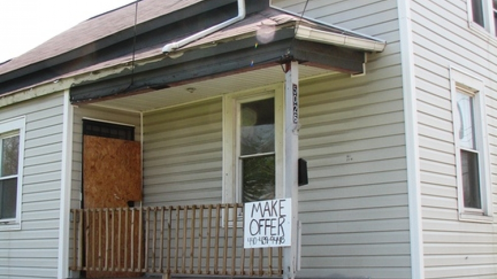 A foreclosed home in Slavic Village