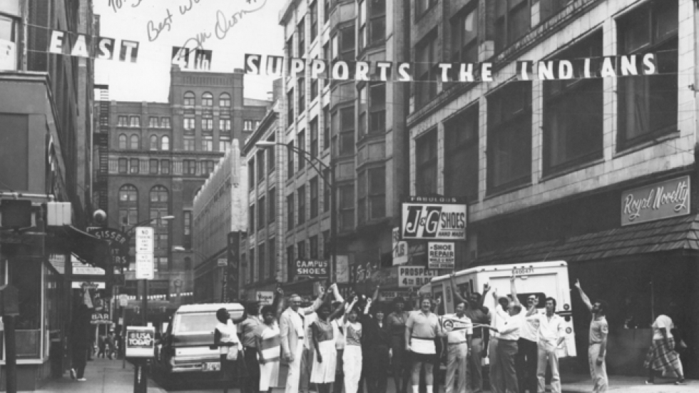1989, Fourth Street Merchants support Cleveland Indians (Robert Zimmer)