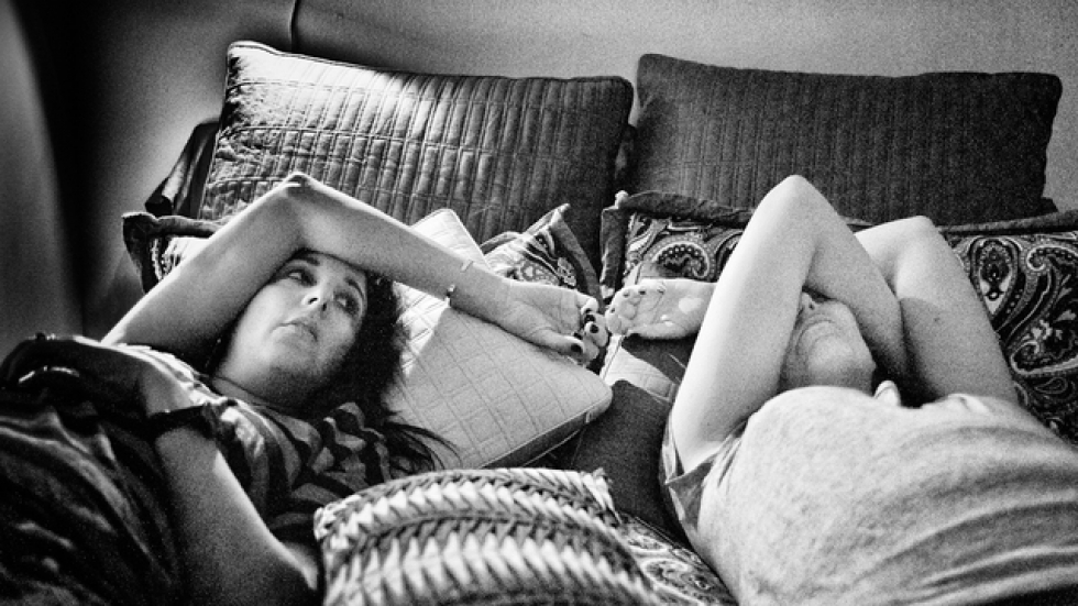 Jen and Beth in Bed