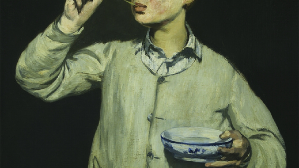 Édouard Manet (French, 1832–1883), Boy Blowing Bubbles, 1867.
