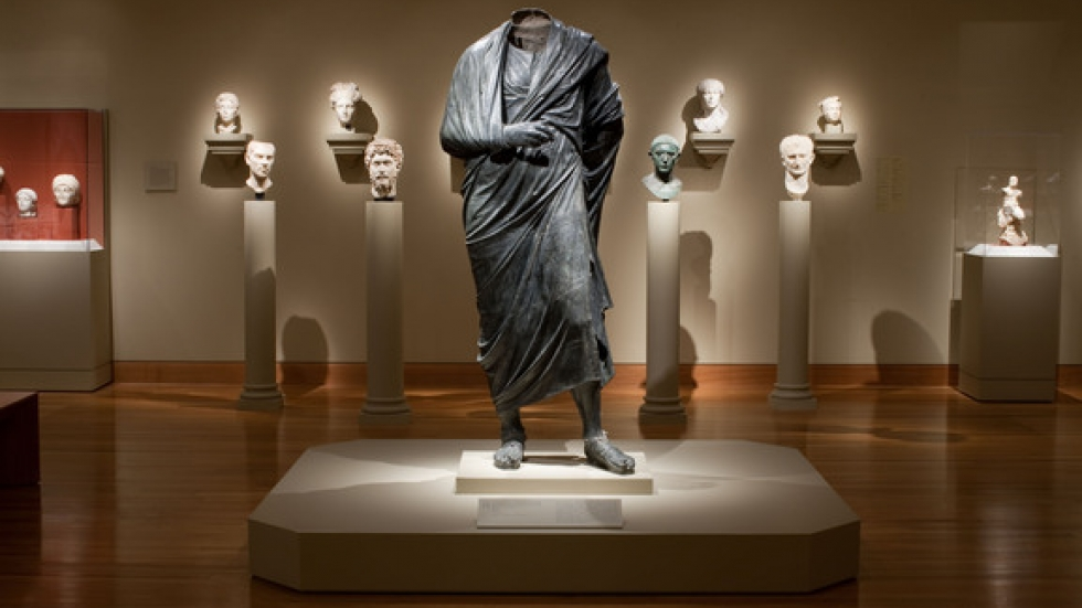 The Emperor as Philosopher, probably Marcus Aurelius (reigned AD 161–180), about AD 180–200. Roman. Bronze