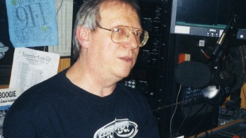photo by Jim Guyette taken c.2004 at former WRUW studios