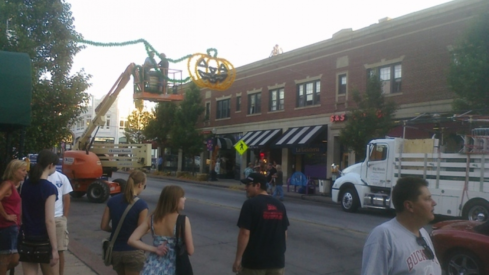 Filming for Fun Size in Cleveland's Coventry neighborhood