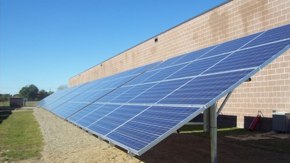The solar array at Hull-Bedford