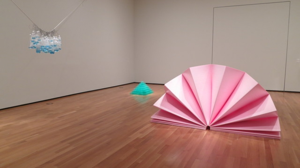 Tony Feher, installation view, 2014, Karl and Bertl Arnstein Galleries, Courtesy of the Akron Art Museum