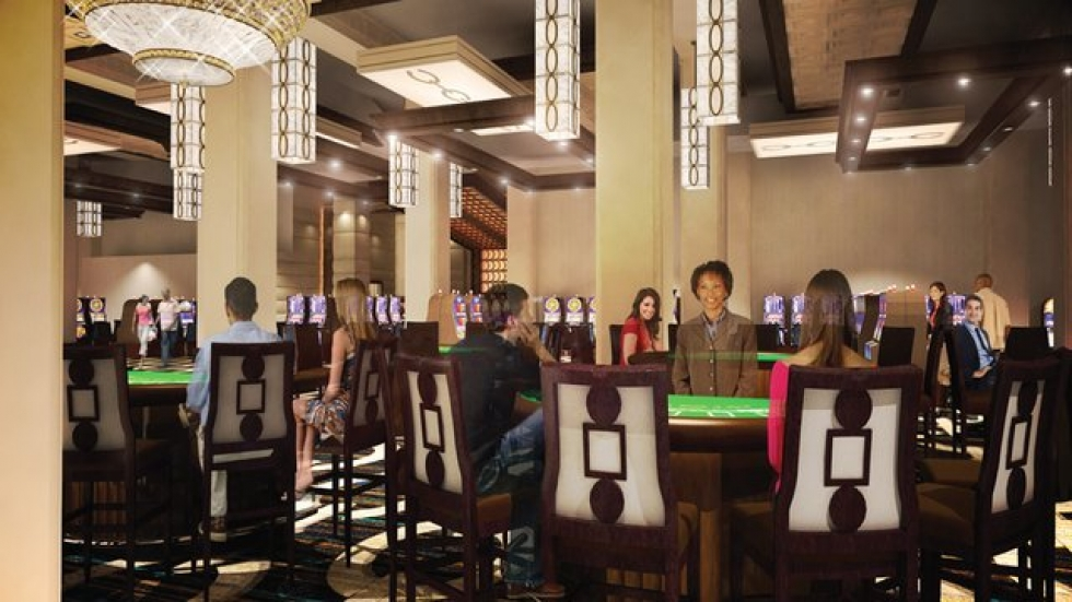 Artist rendering of gaming room at Horseshoe Casino Cleveland.