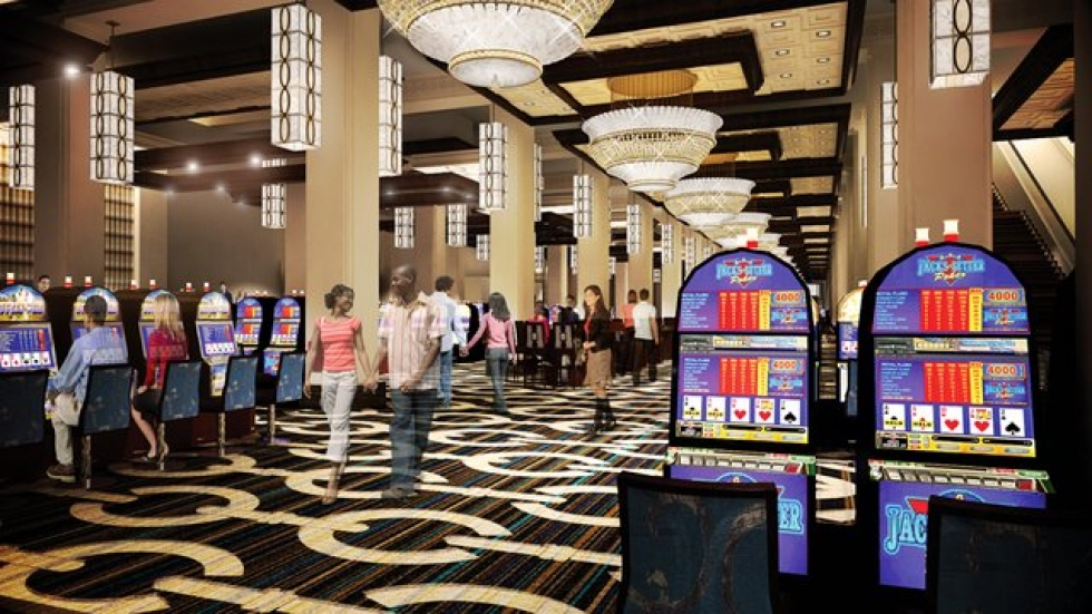 Artist rendering of slots gallery at Horseshoe Casino Cleveland.