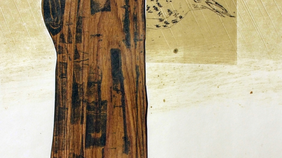 High Water on Bird Island (detail)2013 Intaglio, relief, monoprint, chine colle' on hand-made paper
