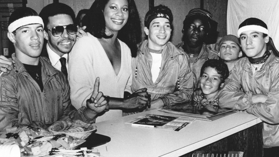 Councilman Matt Zone (center) with members of Project 5 and singer Claudja Barry circa 1985