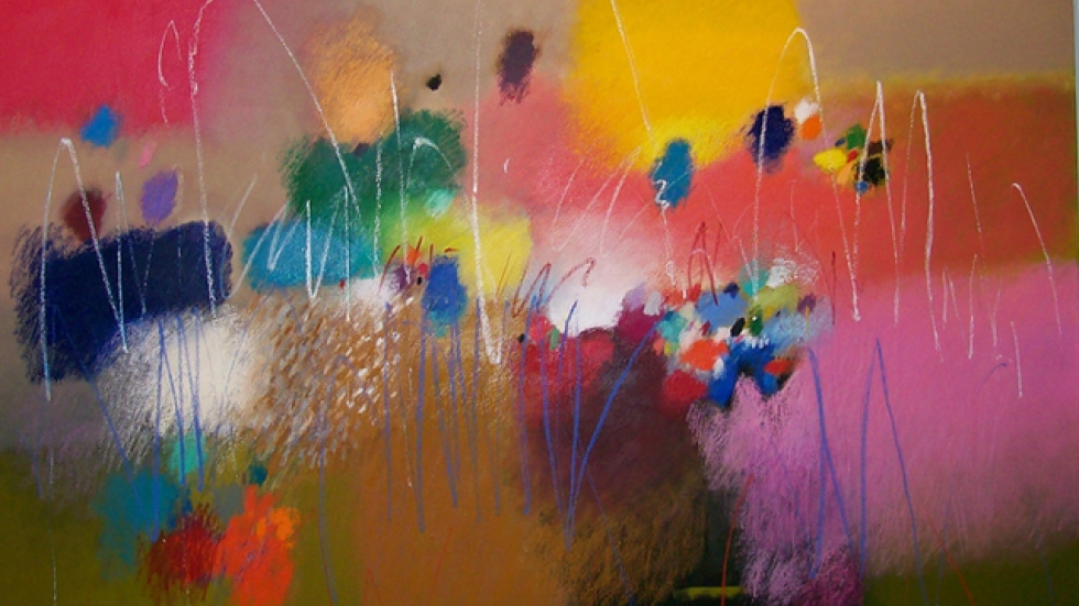 Moe Brooker - Listen with your eyes, 2009, 62 x 72, mixed media on canvas