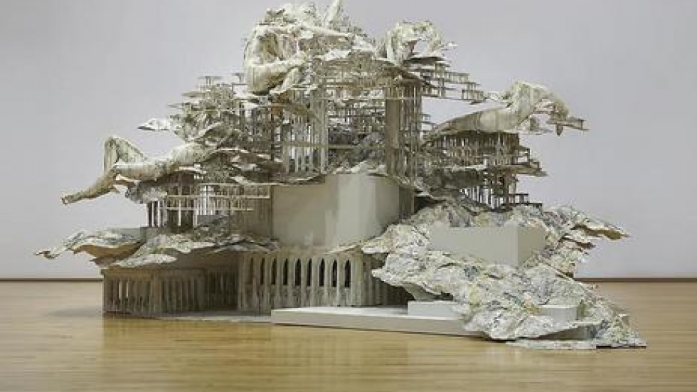 Diana Al-Hadid, Nolli's Orders  Courtesy of the artist and Marianne Boesky Gallery. © Diana Al-Hadid