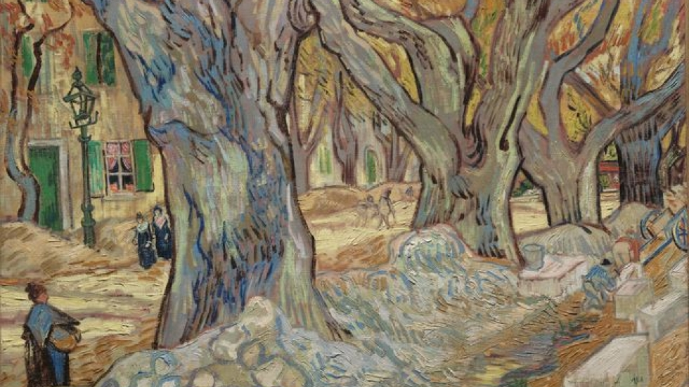 The Large Plane Trees, November–December 1889. Vincent van Gogh, The Cleveland Museum of Art