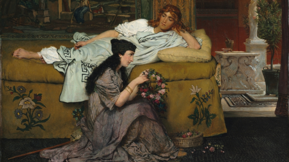 Glaucus and Nydia, 1867; reworked 1870. Lawrence Alma-Tadema, Cleveland Museum of Art