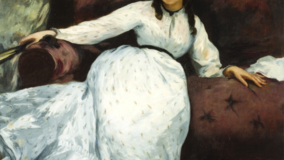 Édouard Manet (French, 1832–1883), The Repose (Portrait of Berthe Morisot), 1870.