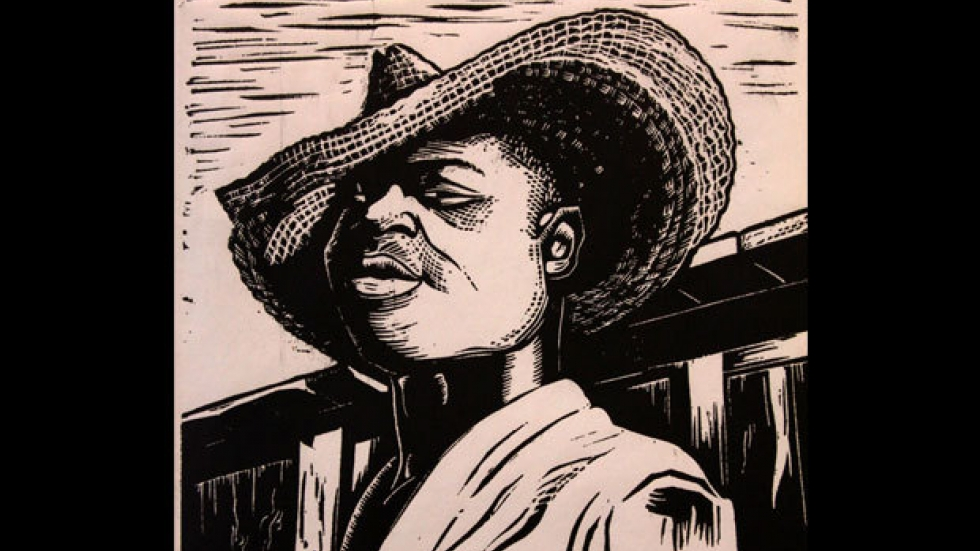 'Stable Boy' William E. Smith, linocut