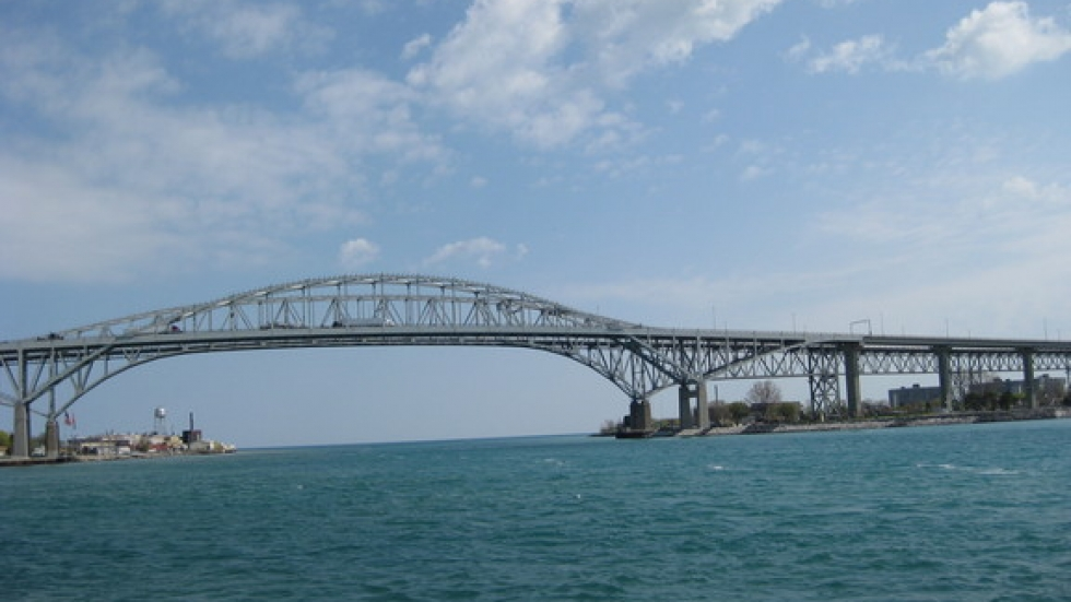The St. Clair River, Michigan