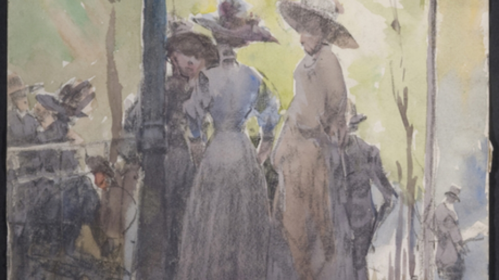 Frank Wilcox, <i>Band-stand, Luxembourg Gardens</i>, 1911