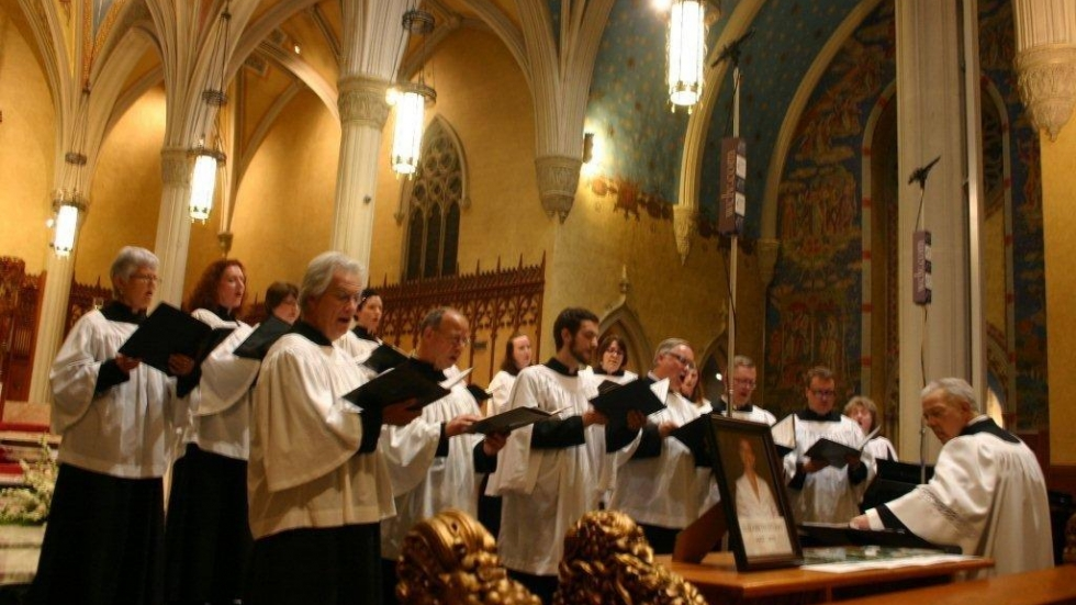 [photo:  St. Vincent de Paul Parish, Canticum Novum Chamber Choir / by Gaye Ramstrom]