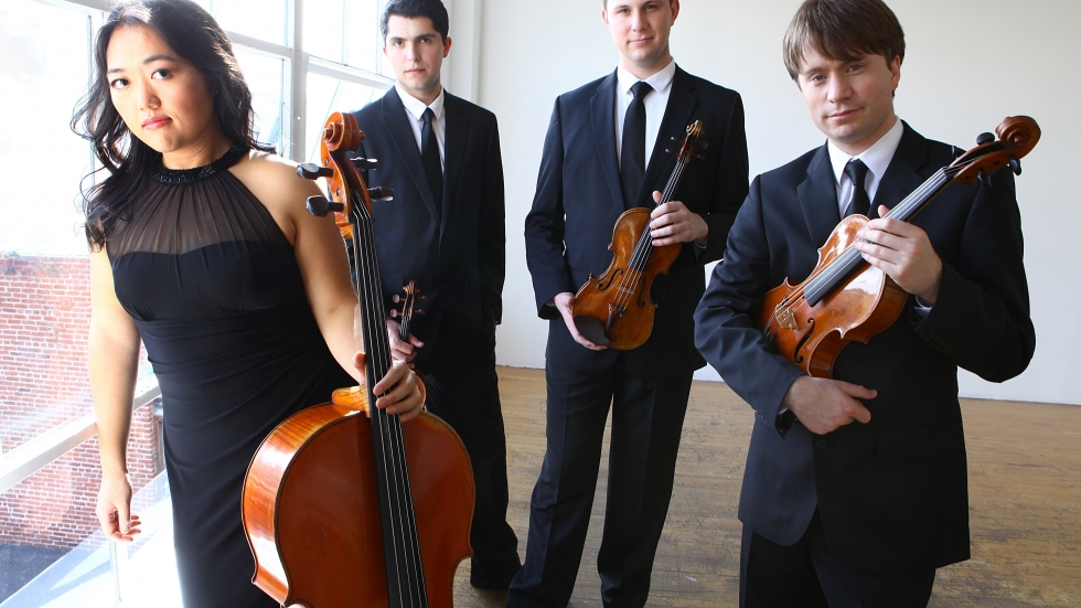 Calidore String Quartet.  Photo: Jeffrey Fasano