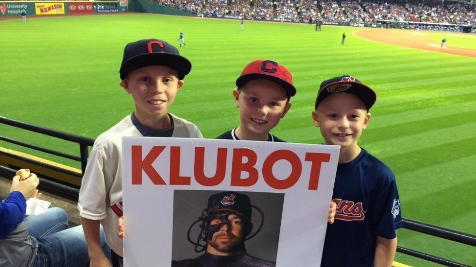 Young Fans Ready for Kluber - Photo David Barnett