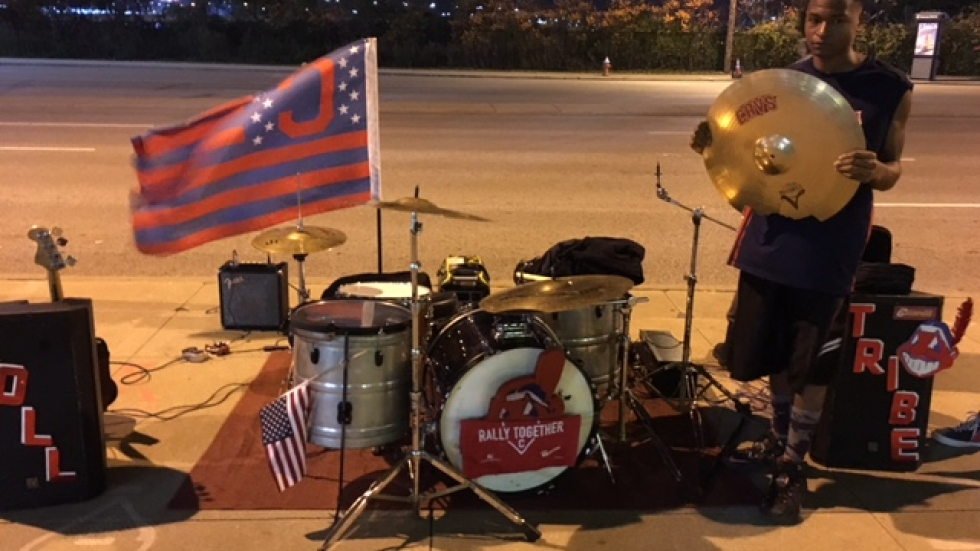 John Sims Set Up for Some Post Game Noise - Photo Matt Richmond