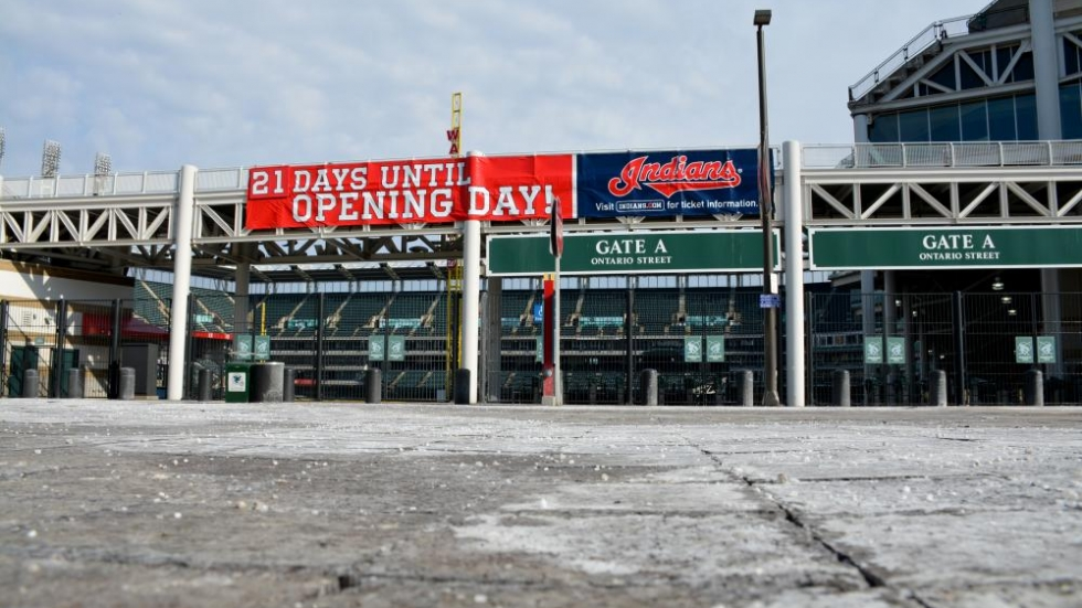 Progressive Field before Opening Day in 2014.