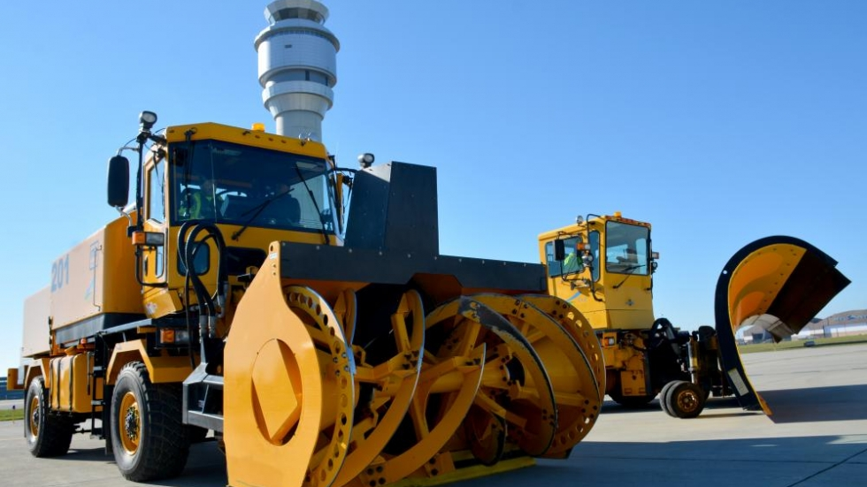 Cleveland-Hopkins International Airport showed off its snow removal trucks on Friday.