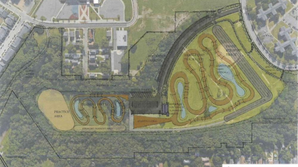 A rendering shows how the motorcross park would take shape.