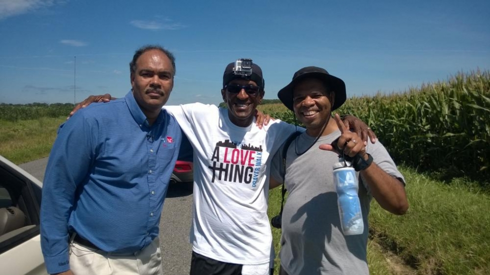 Rick Jackson with Al and Terrence Taylor
