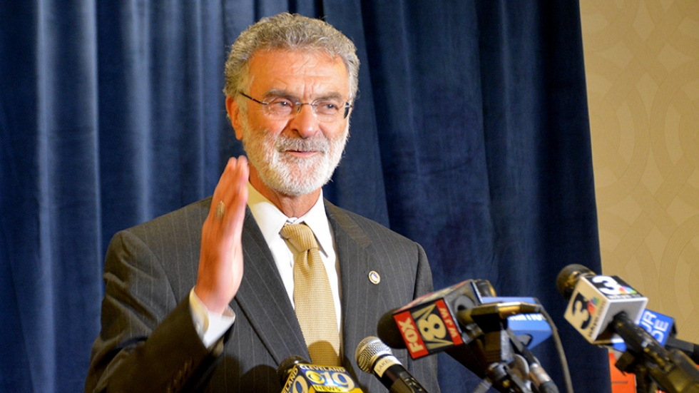Mayor Frank Jackson thanks supporters after declaring victory.