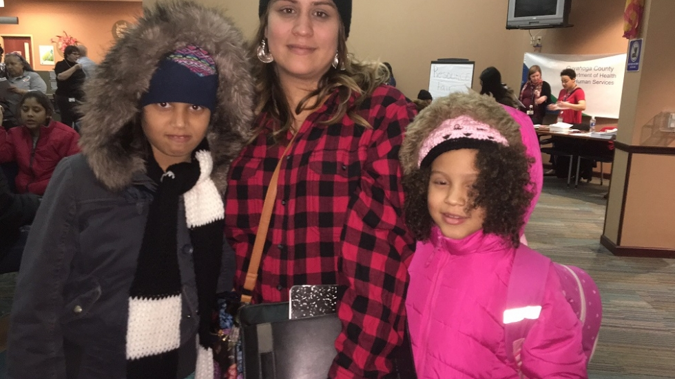 Kritza Basmeson and her daughters arrived in Cleveland last week