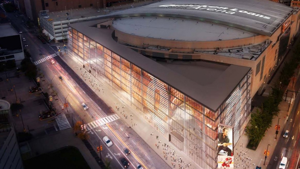 The Cavaliers presented county council with this rendering of the proposed arena renovation.