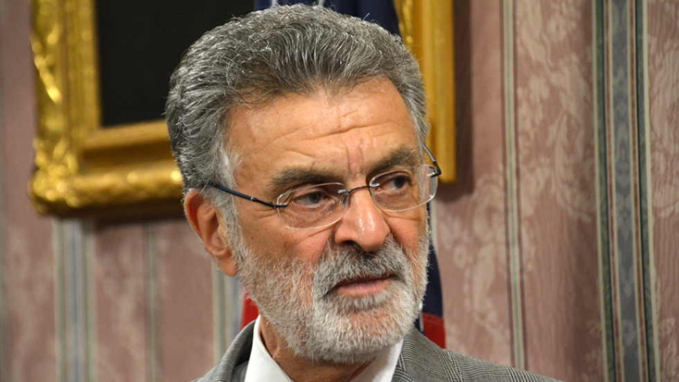 Cleveland Mayor Frank Jackson speaks with reporters about a city omission that led to improper traffic sentences.