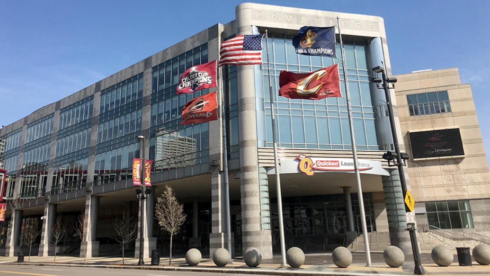 The Cavaliers plan to add a glass atrium to the entrance of Quicken Loans Arena.