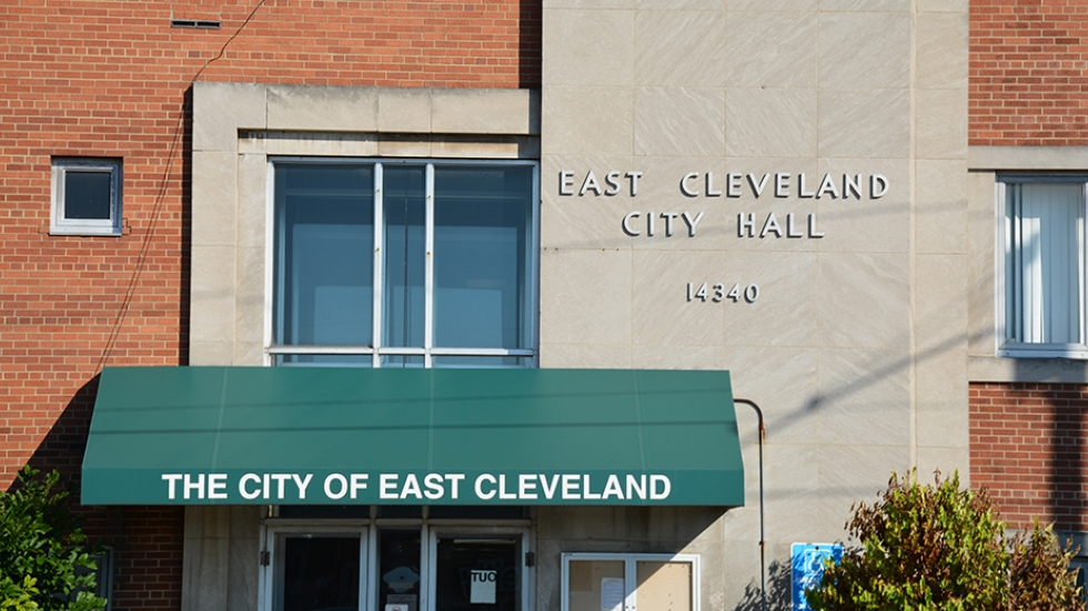 East Cleveland city hall is home to the suburb's municipal court.